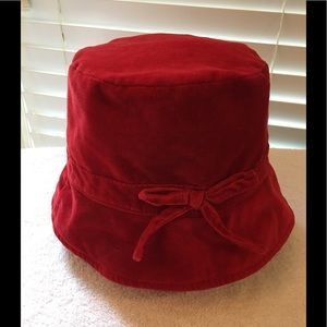 Gap red velour style fabric hat